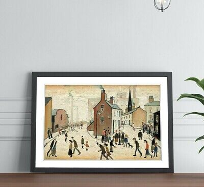 LS Lowry Street Scene People FRAMED WALL ART PRINT PAINTING Artwork 4 SIZES • 14.99£