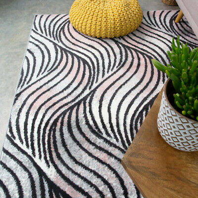 Contemporary Blush Living Room Rug Small Large Nautical Area Rugs Hall Runners • 14.95£