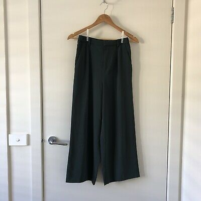 AU20 • Buy Uniqlo Green High Waisted Trousers XS-S
