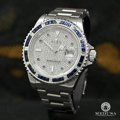 $ CDN16999.99 • Buy 40mm Rolex 16610 Submariner Saphir - Iced With Diamond