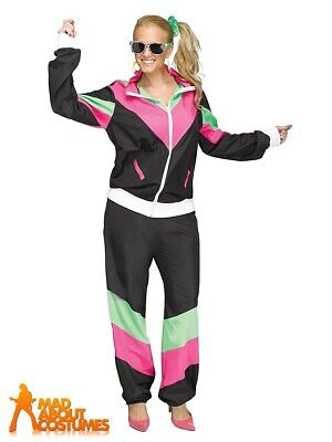 £20.99 • Buy Ladies Shell Suit 1980s Track Suit Costume Scouser Womens Fancy Dress Outfit