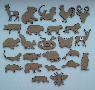 MDF Wooden Animal, Cut Out Shapes, Craft Making, Decoration, Embellishment VOL 2 • 2.95£