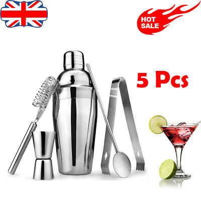 Bar Set Cocktail Sets Stainless Steel Bar Tool Cocktail Shaker Making Kit Mixer • 11.99£