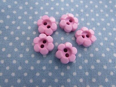11mm And 15mm Pink Daisy Shaped Flower Buttons In Packs Of 5, 10 Or 20 • 1.75£