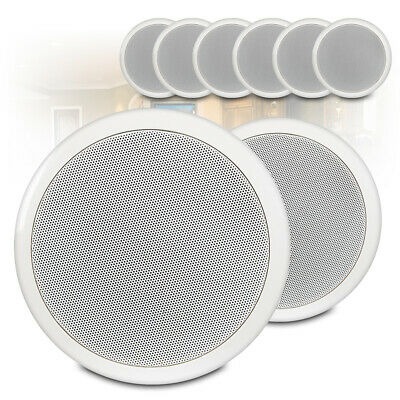 6.5  Round Speakers (x8) Low Impedance 16 Ohm In Ceiling PA Audio Installation • 83.69£