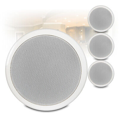 6.5  Round Speakers (x4) Low Impedance 16 Ohm In Ceiling PA Audio Installation • 48.40£