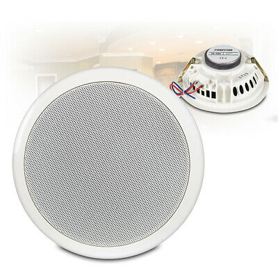 6.5  Round Speakers (Pair) Low Impedance 16 Ohm In Ceiling PA Audio Installation • 25.19£