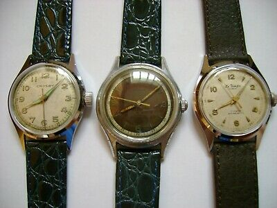 $ CDN110 • Buy Lot 3 Vintage Wind Up Le Temps,crosby,galmor All Run And Keep Time