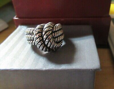 $ CDN17.43 • Buy 'entanglement' Knot Ring By Lia Sophia  Antique Silver Tone Color Sz 8-1/2 Or 9