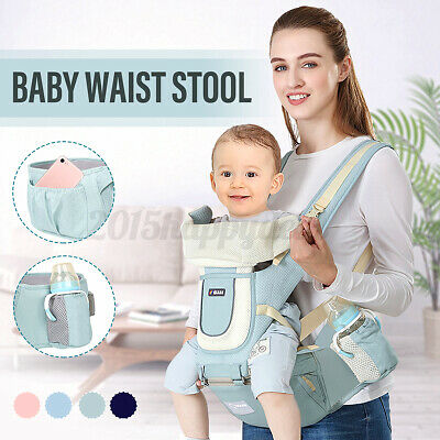 Adjustable Baby Carrier Waist Stool Hipseat Front Ergonomic Infant Support UK • 19.99£