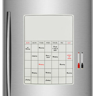 Large Fridge Notice A3 Board Magnetic Memo Weekly Family Meal Planner Whiteboard • 5.99£