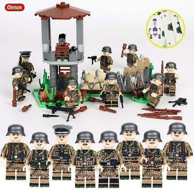 WWII British Germany USA Army Military Soldiers Mini Figures Fit Lego Toy Hot
