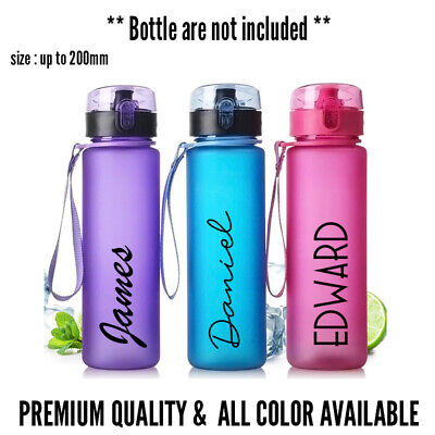 AU6.95 • Buy Personalised Drink Vinyl Name Sticker - Water Bottle - Lunch - Gym - Sports