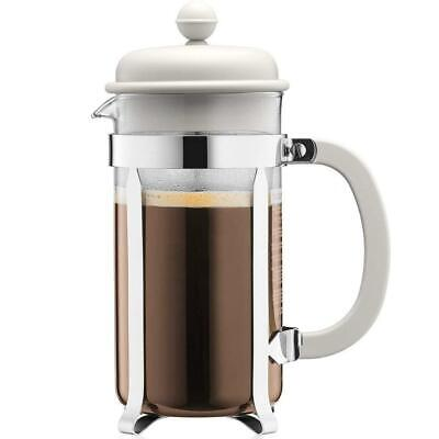 Bodum Caffettiera French Press Coffee Maker White, Kitchen, Heat Resistant Glass • 13.31£