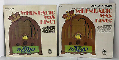 $ CDN25 • Buy When Radio Was King! The Life Of Riley MLP-711 & Groucho Marx MLP-733 LP SEALED