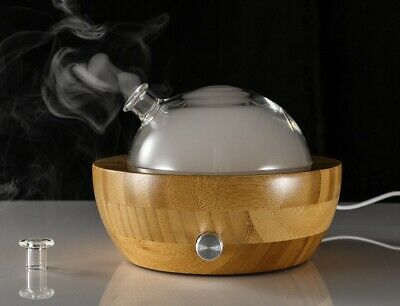 AU117.19 • Buy Bamboo Glass Essential Oil Aroma Nebulising Aromatherapy Diffuser