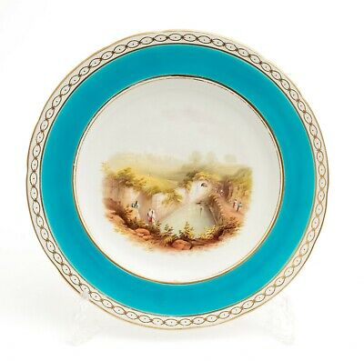 Antique Minton China Hand Painted Cabinet Plate With Pastoral Ruin C1863 • 75£
