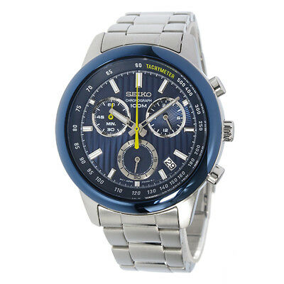 $ CDN265.35 • Buy Seiko Chronograph 100m Stainless Steel Men's Watch SSB207P1