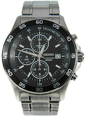 $ CDN384.02 • Buy Seiko Chronograph 100m Stainless Steel Men's Watch SNDA75P1