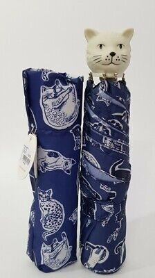 Cath Kidston  Handle Squiggle Cats Umbrella Navy Colour New With Tag • 24.90£