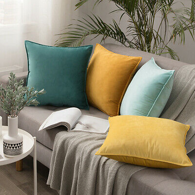AU32 • Buy Modern Nordic Velvet Single Colour Cushion Pillowcase Cover