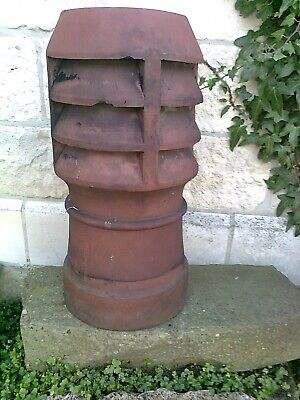 RECLAIMED RED CLAY CHIMNEY POT Approx 30 Cm Diameter X 60 Cm Overall Length. • 48£