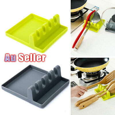 AU11.55 • Buy Spoon Rest Silicone Cooking Holder Kitchen Colorful Tool Heat Resistant Utensil