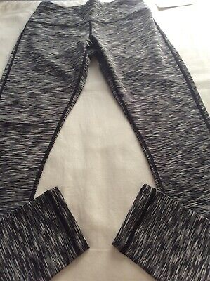 AU26.63 • Buy Space Dye Queenie Ke Black Gray Workout Yoga Leggings Size Small New With Tags