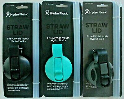 $7.99 • Buy Hydro Flask Straw Lid For Wide Mouth Water Bottle 16/18/20/32/40/64 OZ ~ NEW