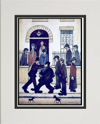 L S Lowry Painting, Art Picture Print  The Fight  Home Decor Wall Hanging .  • 14.95£