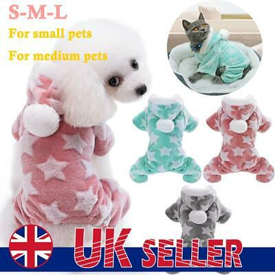 Cute Dog Clothes Jumpsuit Warm Winter Puppy Cat Coat Pet Clothing Outfit • 7.69£