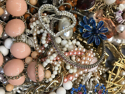 $ CDN32.89 • Buy Jewelry Vintage-Modern Huge  Lot Craft, Junk, Wearable,  Over One Full Pound