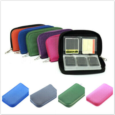 Portable Memory Card Storage Case 22 Slot Micro SD SIM Pouch Holder Bag TO • 2.59£