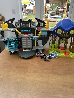 Imaginext BatMan Bat Cave & Hall Of Doom & Figures Penguin Joker All Working VGC • 35.99£