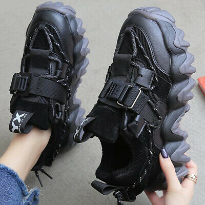 $ CDN37.60 • Buy Womens Ladies Sneakers Chunky Sole Trainers Buckle Sports Casual Running Shoes