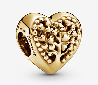 AU89 • Buy PANDORA Family Tree Heart Charm 14K Gold Vermeil Plated 797058