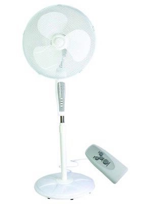 £32.95 • Buy 16 Inches Pedestal Fan With Remote Control 3 Speed Settings & Adjustable Height