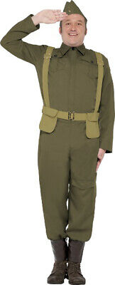Men Adults Fancy Dress 1940s Party WW2 Home Army Guard Private Costume Outfit • 33.99£