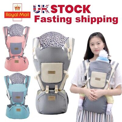 Adjustable Infant Baby Carrier Wrap Sling Hip Seat Newborn Backpack Breathable • 12.19£