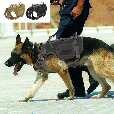 AU46.99 • Buy No Pull Military Tactical Dog Harness MOLLE Large K9 Adjustable German Shepherd