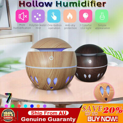 AU25.55 • Buy Aroma Aromatherapy Diffuser LED Essential Oil Ultrasonic Air Humidifier Purifier