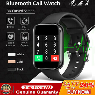 AU47.69 • Buy Bluetooth Smart Watch IP67 Waterproof Heart Rate Fitness Tracker IPhone Samsung