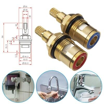 1Pair 1/2  Replacement Brass Ceramic Disc Tap Valve Cartridge Insert Basin Mixe • 3.49£