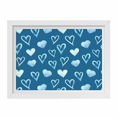 A3  - Blue Love Hearts Boys Boyfriend Framed Print 42X29.7cm #44373 • 24.99£