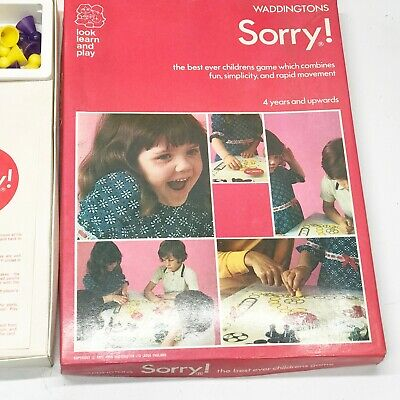 Vintage Board Game 1977 - SORRY! By Waddingtons House Of Games Ltd COMPLETE • 24.99£