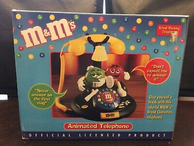 $65 • Buy M&M's Candy ANIMATED Talking Light-Up TELEPHONE Phone Red Green Couch