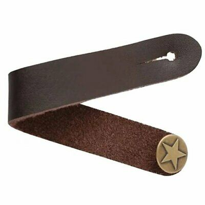 $ CDN14.93 • Buy Brown Star Genuine Leather Guitar Strap Hook Button For Acoustic / Folk / Guitar