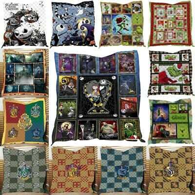 Harry Potter Quilt Blankets Summer Winter Warm Sofa Throw Blankets Grinch Covers • 25.36£