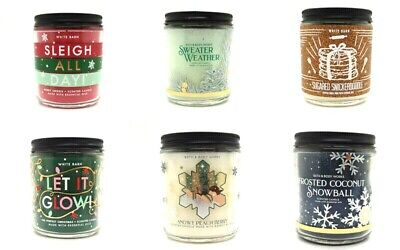 £15.99 • Buy New Bath And Body Works Single Wick Scented Candles 2021 Winter Scents