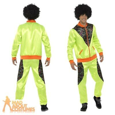 Adult Mens 1980s Retro Shell Suit Costume Scouser Tracksuit Fancy Dress Outfit  • 19.99£